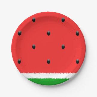 Watermelon paper plates. paper plate