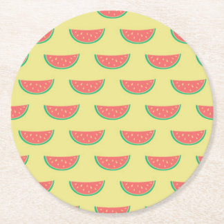 watermelon pattern coasters