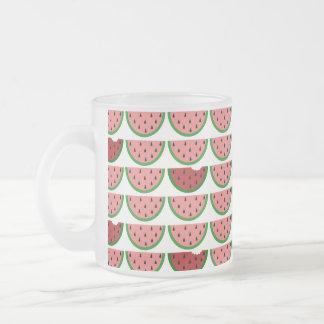 Watermelon Pattern Frosted Glass Mug