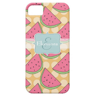 Watermelon Pattern, Orange Polka Dots iPhone 5 Cases
