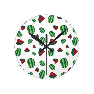 Watermelon Pattern Round Clock