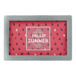 Watermelon Pattern, Summer Time | Personalized Belt Buckle