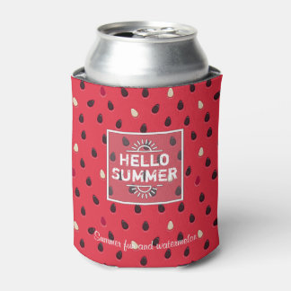 Watermelon Pattern, Summer Time | Personalized Can Cooler