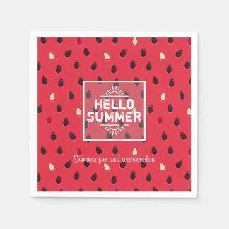 Watermelon Pattern, Summer Time | Personalized Disposable Serviette