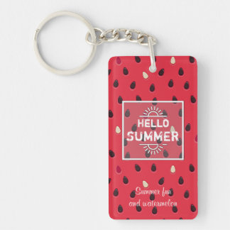 Watermelon Pattern, Summer Time | Personalized Key Ring