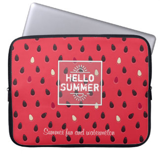 Watermelon Pattern, Summer Time | Personalized Laptop Sleeve