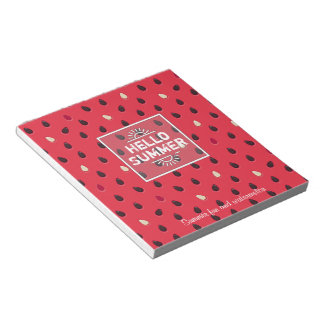Watermelon Pattern, Summer Time | Personalized Notepad
