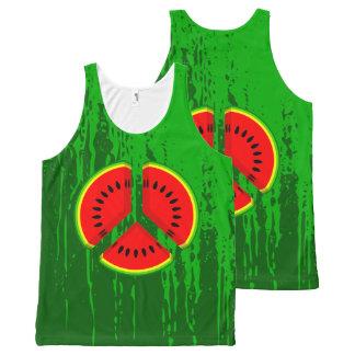 Watermelon Peace Symbol All-Over Print Tank Top
