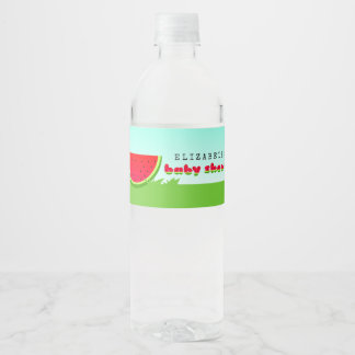 Watermelon Picnic Baby Shower Water Bottle Label