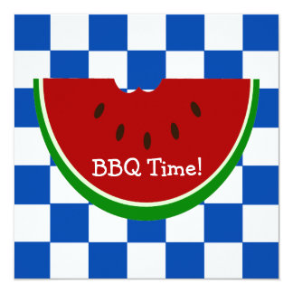 Watermelon Picnic Blanket BBQ 13 Cm X 13 Cm Square Invitation Card