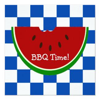Watermelon Picnic Blanket BBQ 13 Cm X 13 Cm Square Invitation Card