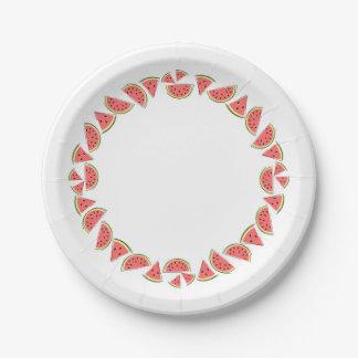 Watermelon Pieces Circle paper plate