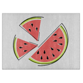 Watermelon Pieces cutting board