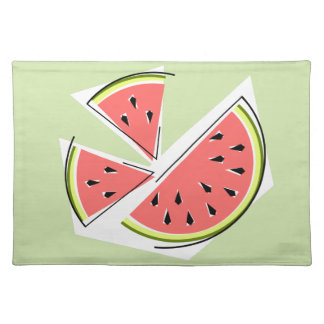 Watermelon Pieces Green placemat cloth