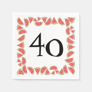 Watermelon Pieces Square Age 40 napkins paper Disposable Serviettes