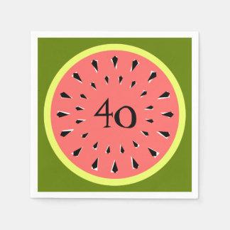 Watermelon Pink 40 Age napkins paper Paper Napkin