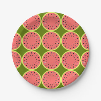 Watermelon Pink Multi paper plates