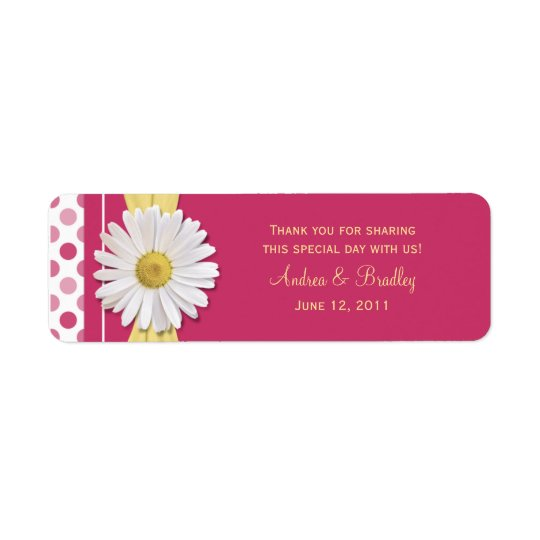 Watermelon Pink Polka Dot Favour Tags Return Address Label