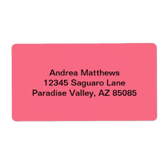 Watermelon Pink Solid Color