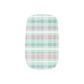 Watermelon Plaid Minx Nails Nails Sticker