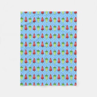 Watermelon Popsicles Fleece Blanket