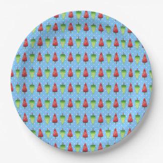 Watermelon Popsicles Paper Plate