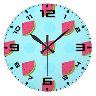 Watermelon Print Large Clock