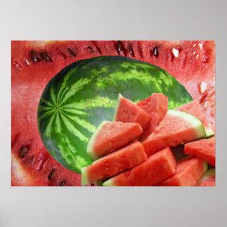 Watermelon Print Poster