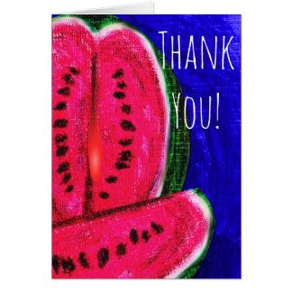 Watermelon Print Thank You Card