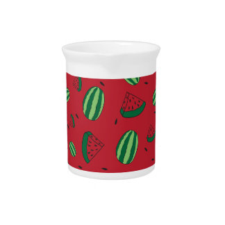 Watermelon Red Pattern Pitcher
