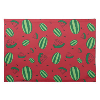 Watermelon Red Pattern Placemat