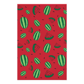 Watermelon Red Pattern Stationery