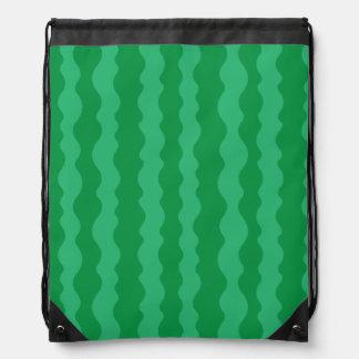 Watermelon Rind Drawstring Bag