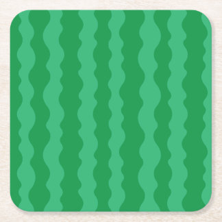 Watermelon Rind Square Paper Coaster