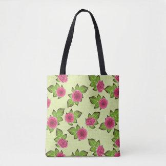 Watermelon Roses Tote Bag