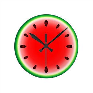 Watermelon round round clock