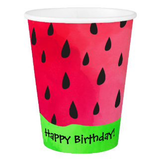 Watermelon Seed Skin Fruit Birthday Paper Cup