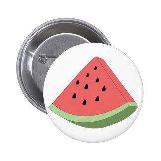 Watermelon Slice 6 Cm Round Badge