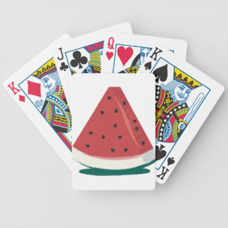 Watermelon Slice Bicycle Playing Cards