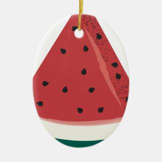 Watermelon Slice Ceramic Ornament