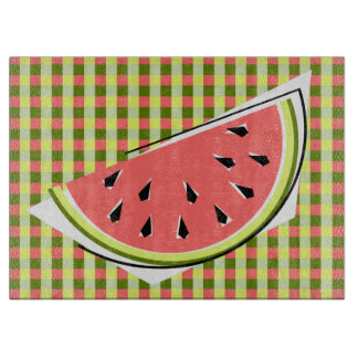 Watermelon Slice Check cutting board