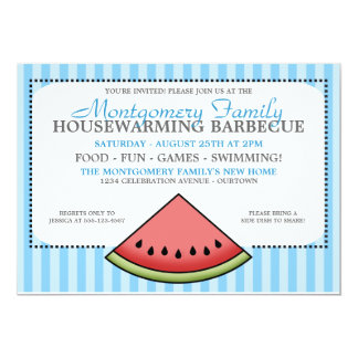 Watermelon Slice Family Housewarming Invitations