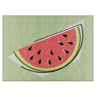 Watermelon Slice Green cutting board