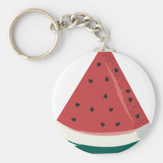 Watermelon Slice Key Ring