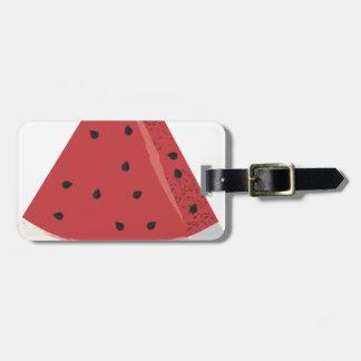 Watermelon Slice Luggage Tag