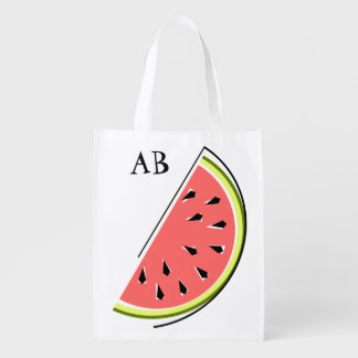 Watermelon Slice monogram reusable bag