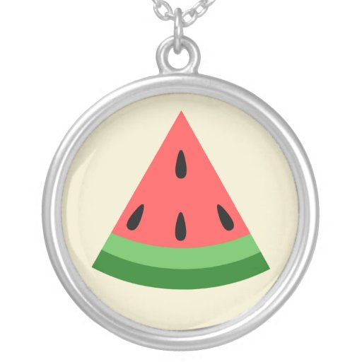 Watermelon Slice Necklace