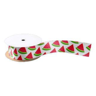 Watermelon Slice Pattern Satin Ribbon