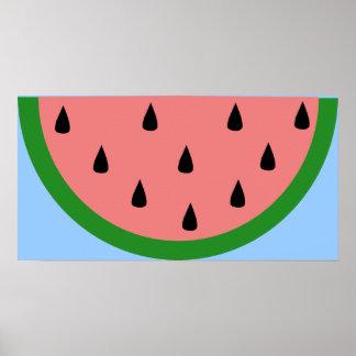 Watermelon Slice Poster