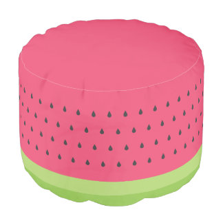 Watermelon Slice Pouf